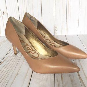 Sam Edelman nude Orella pumps pointy toe heels 8.5